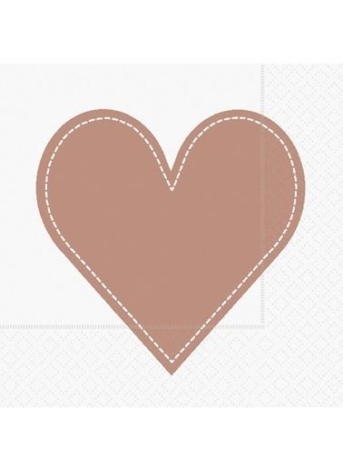 Dünya Style Heart Copper Peçete Renkli